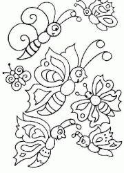 plansa de colorat animale fluturasi de colorat p43