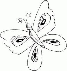 plansa de colorat animale fluturasi de colorat p49