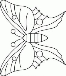 plansa de colorat animale fluturasi de colorat p53