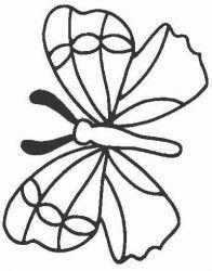 plansa de colorat animale fluturasi de colorat p54