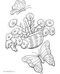 plansa de colorat animale fluturasi de colorat p56