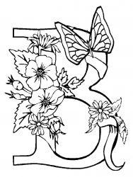 plansa de colorat animale fluturasi de colorat p57