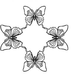 plansa de colorat animale fluturasi de colorat p63