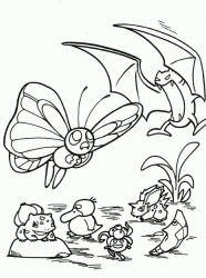 plansa de colorat animale fluturasi de colorat p65