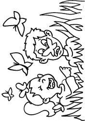 plansa de colorat animale fluturasi de colorat p67