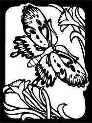 plansa de colorat animale fluturasi de colorat p71