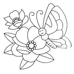 plansa de colorat animale fluturasi de colorat p73