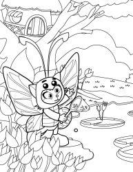 plansa de colorat animale fluturasi de colorat p78