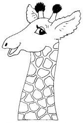 plansa de colorat animale girafe de colorat p08
