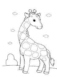 plansa de colorat animale girafe de colorat p13