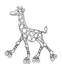 plansa de colorat animale girafe de colorat p21