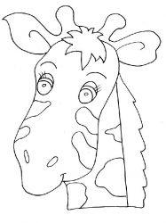 plansa de colorat animale girafe de colorat p26