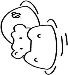 plansa de colorat animale hipopotami de colorat p03