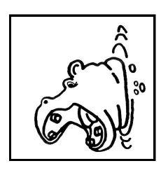 plansa de colorat animale hipopotami de colorat p09
