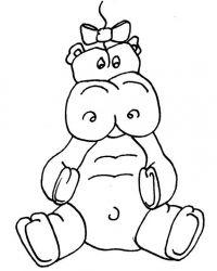 plansa de colorat animale hipopotami de colorat p11