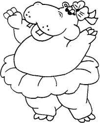 plansa de colorat animale hipopotami de colorat p13