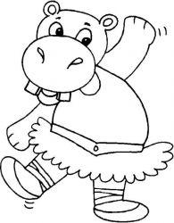 plansa de colorat animale hipopotami de colorat p14