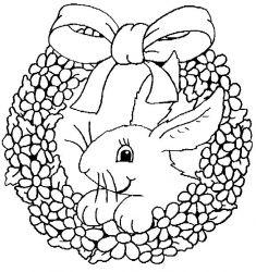 plansa de colorat animale iepurasi de colorat p11
