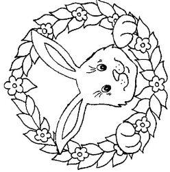 plansa de colorat animale iepurasi de colorat p18