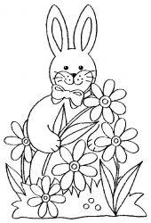 plansa de colorat animale iepurasi de colorat p20