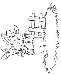 plansa de colorat animale iepurasi de colorat p21