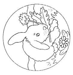 plansa de colorat animale iepurasi de colorat p26