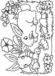 plansa de colorat animale iepurasi de colorat p27