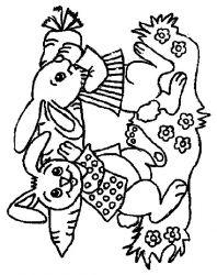 plansa de colorat animale iepurasi de colorat p37