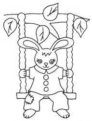 plansa de colorat animale iepurasi de colorat p39
