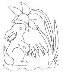 plansa de colorat animale iepurasi de colorat p40