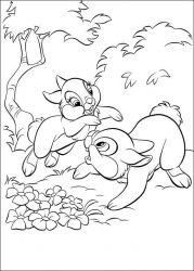 plansa de colorat animale iepurasi de colorat p63
