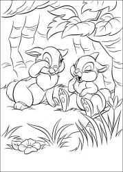 plansa de colorat animale iepurasi de colorat p66