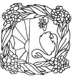 plansa de colorat animale lebede de colorat p03