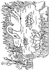 plansa de colorat animale lebede de colorat p07