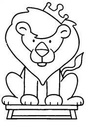 plansa de colorat animale lei de colorat p02