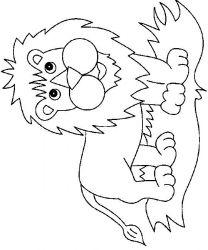 plansa de colorat animale lei de colorat p05