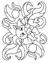 plansa de colorat animale lei de colorat p14