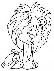 plansa de colorat animale lei de colorat p25