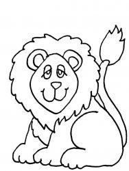 plansa de colorat animale lei de colorat p35