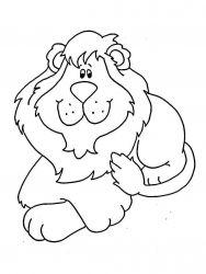 plansa de colorat animale lei de colorat p38