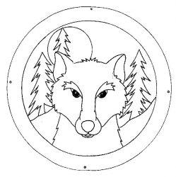 plansa de colorat animale lupi de colorat p07
