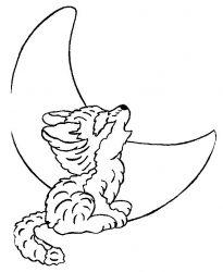 plansa de colorat animale lupi de colorat p08