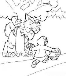 plansa de colorat animale lupi de colorat p25