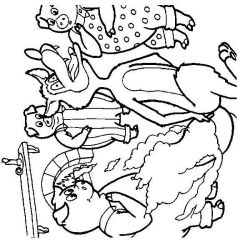 plansa de colorat animale lupi de colorat p30