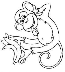 plansa de colorat animale maimute de colorat p03