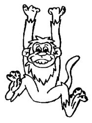 plansa de colorat animale maimute de colorat p13