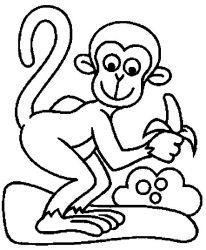 plansa de colorat animale maimute de colorat p18