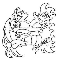 plansa de colorat animale maimute de colorat p23