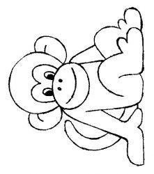 plansa de colorat animale maimute de colorat p25