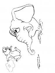 plansa de colorat animale marmota de colorat p07